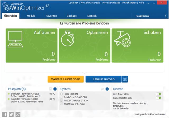 Ashampoo Winoptimizer 12 (Screenshot: Mehmet Toprak)