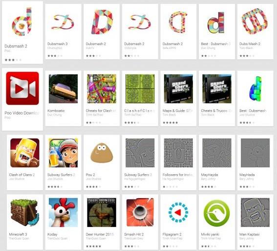 Porn Clicker Apps Google Play (Screenshot: Eset)
