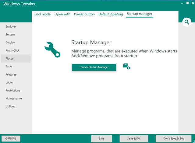 Windows Tweaker (Screenshot: Mehmet Toprak)