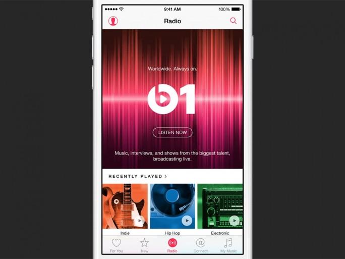 Der Radiosender Beats1 ist Teil des neuen Musikdienstes Apple Music (Bld: Apple)