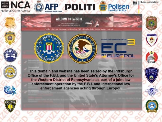 Mit Darkode haben FBI udn Europol das führende englischsprachige Cybercrime-Forum ausgehoben (Screenshot: Europol)
