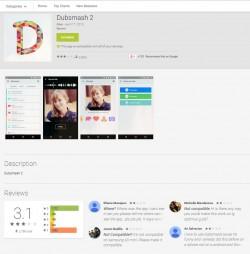 Erste Erfolge hatte der Entwickler, der Porn Clicker für Klickbetrug nutzt, mit einer gefälschten Version der Video-Selfie-App Dubsmash (Screenshot: Avast) .