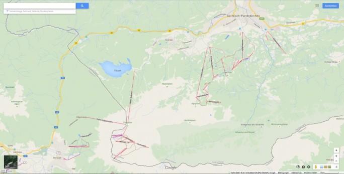 Zugspitzregion bei Google Maps (Screenshot: ITespresso)