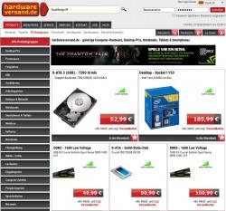 Hardwareversand.de (Screenshot: ITespresso)