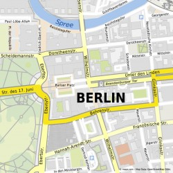 """Mehrere Kartendesigns, hier die Variante """"Multicolor"""" im Stil klassischer Stadtpläne, erlaubt Nutzern bei Mapz.com die Anpassung an den Verwendungszweck (Grafik: Mapz.com)."""