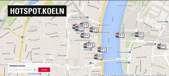 Gegen die Pläne in Düsseldof nimmt sich das einst innovative WLAN-Hotspot-Angebot in Köln nun bescheiden aus (Screenshot: ITespresso).