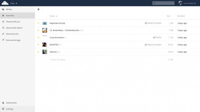 Auch die Benutzeroberfläche hat leichte Veränderungen erfahren und die Performance bei Up- und Downloads wurde deutlich erhöht (Screenshot: ownCloud).