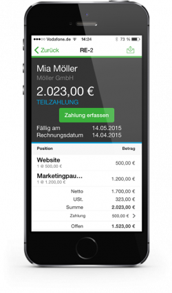 Sage One App auf dem iPhone (Bild: Sage Software)