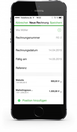 Sage One App auf iPhone (Bild: Sage Software)