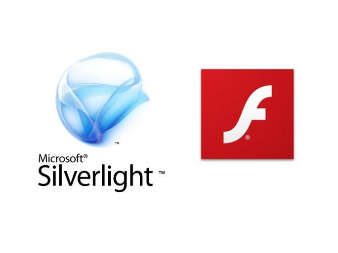 Logo Silverlight und Föash Player (Grafik: Microsoft, Adobe und ITespresso)