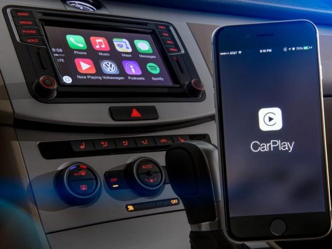 Apple Car Play in eienm VW (Bild: Volkswagen)