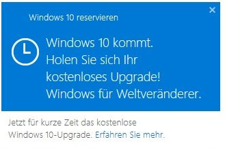 Windows 10 reservieren (Screenshot: ITespresso)