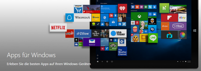Windows Universal App Store (Screenshot: ZDNet.de)