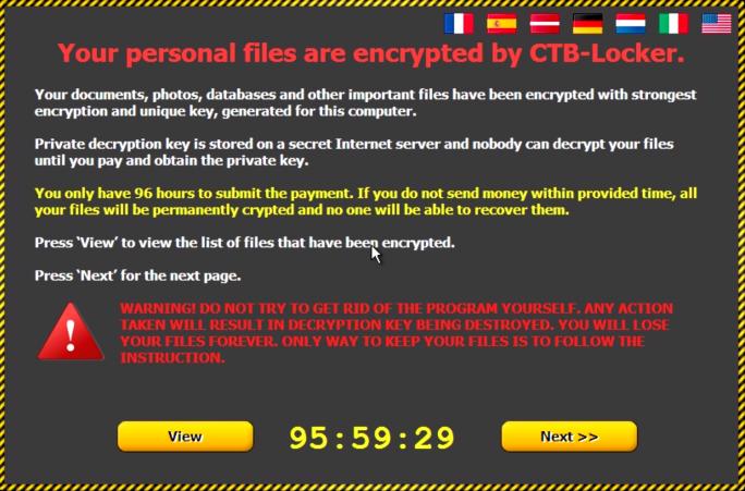 Klicken Nutzer in der vermeintlich von MIcosoft stammneden Mail auf den Anhang, verschlüsselt die Ransomware CTB-Locker ihre Dateien (Screenshot: Cisco).