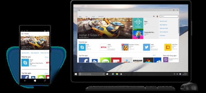 Eine wesentliche Neuerung von Windows 10 ist das Konzept der Universal App (Bild: Microsoft).