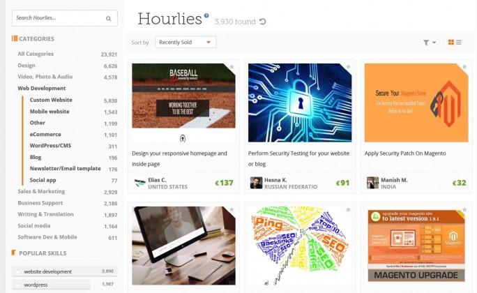 Kreativ: Die Crowd-Plattform Peopleperhour beschäftigt Freiberufler aus den Bereichen Grafik und Webdesign. (Screenshot: Mehmet Toprak)