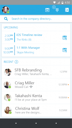 Skype for Business unter Android (Bild: Microsoft)