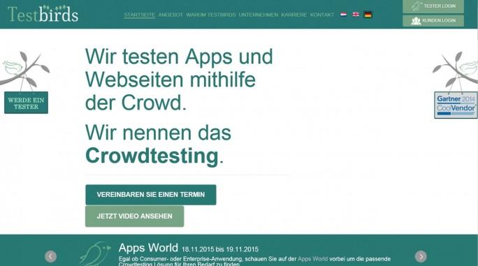 Software-Tests: Testbirds setzt den Schwerpunkt darauf, Bugs in Websites und in Apps zu finden. (Screenshot: Mehmet Toprak)