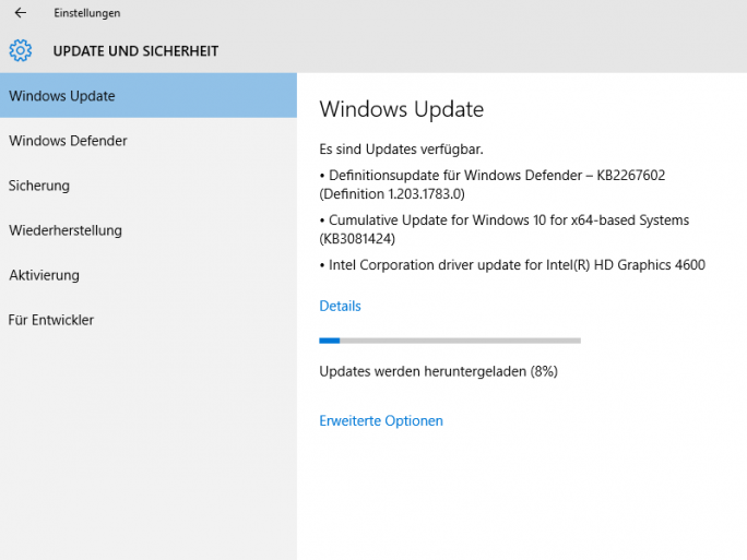 windows-10-update (Screenshot: ZDNet.de)