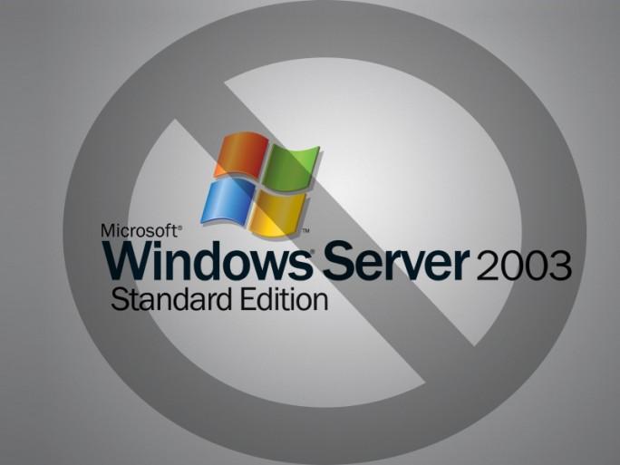 Windows-Server-2003-Stopp (Bild: ZDNet.de)