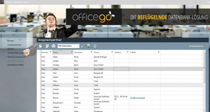 Schlicht und übersichtlich wirkt die Bedienoberfläche von Officego. (Screen: Mehmet Toprak)