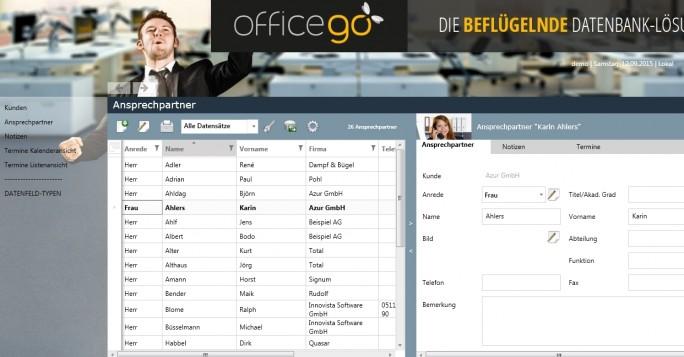 Das linke Fenster zeigt jeweils den ganzen Datensatz und listet alle Einträge auf, das rechte zeigt einen Eintrag mit allen Details an (Screenshot: Mehmet Toprak).