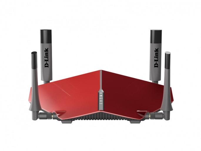 Der  Dual-Band-WLAN-Router DIR-885L soll bis zu 3,1 GBit/s übertragen und im Frühjahr 2016 die Ultra-Router genannte D-Link-Serie ergänzen  (Bild: D-Link) .
