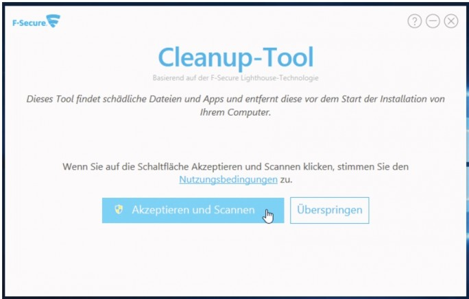 F-Secure_Cleanup-Tool (Screenshot: F-Secure)