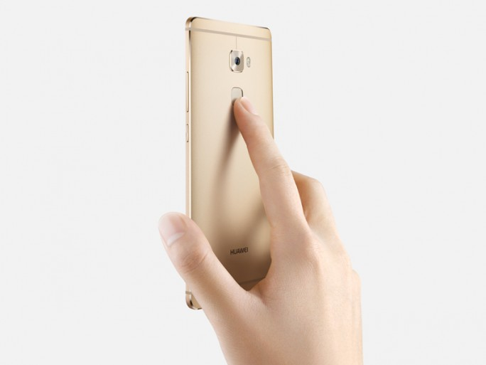 Der Fingerabdrucksensor soll beim Mate S nicht nur schneller arbeiten, sondern dient nun auch in mehreren Fällen kontextbezogen als Taste, um Aktionen direkt auszulösen (Bild: Huawei)