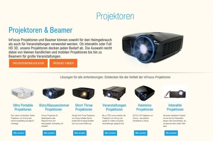 Wer sich einen Projektor kauft, muss sich erst mal durch die zahlreichen Features und Konzepte durchkämpfen, wie die Webseite von Infocus zeigt.