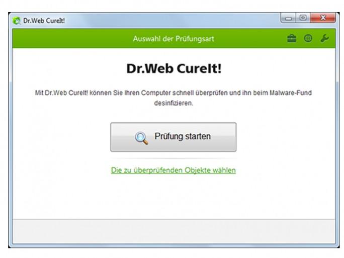 Dr. Web CureIT (Screenshot: Dr. Web)