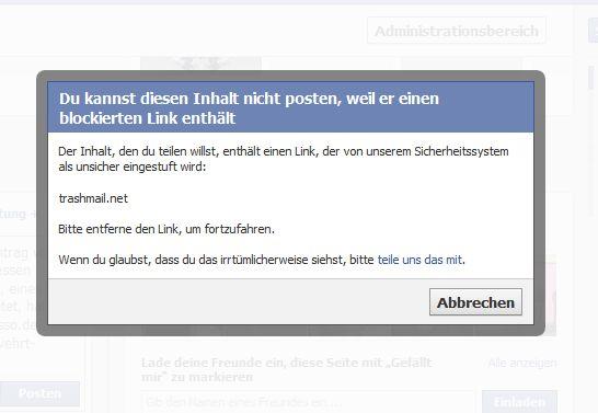 Facebok Sicherheitssystem (Screenshot: ITespresso)