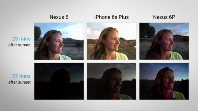 Im Rahmen seiner Produktpräsentation hat Google die Vorzüge seiner neuen Kamera auch im Vergleich zum iPhone6S Plus demonstriert (Screenshot: ITespresso)..