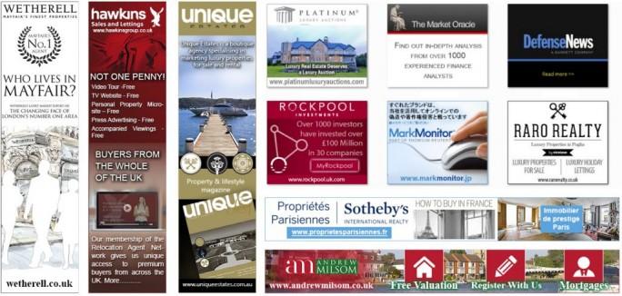 Eine Auswahl der Anzeigen, die unte anderem über DoubleClick ausgeliefert wurden und Nutzer zu gefährlichen Sites lockte (Bild: Malwarebytes).