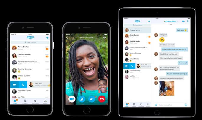 Die iOS-Clients von Skype 6.0 (Bild: Microsoft).