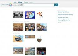 Die mit dem aktuellen Update neu hinzugekommene Bildersuche bei Unbubble.eu (Screenshot: ITespresso).