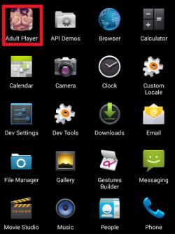 """Die als Porno-App """"Adult Player"""" getarnte Ransomware verschafft ihrer Lösegeldforderung mit einem Bild des Nutzers Nachdruck (Screenshot: ZScaler)."""