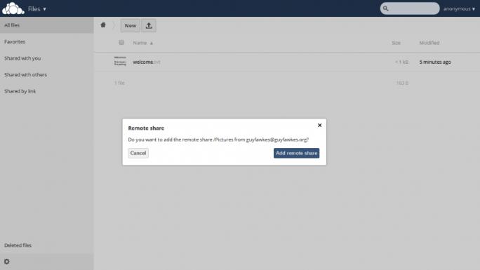 FederatedShare2 (Screenshot: ownCloud)