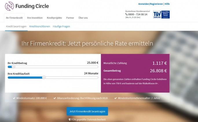 Funding Circle (Screenshot: ITespresso)