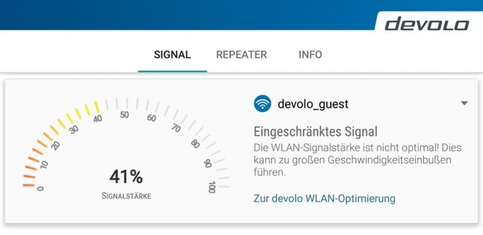 Devolo WLAN-Hilfe (Screenshot: Devolo)