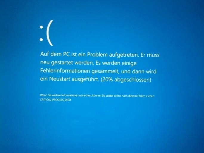 Windows 10 Bluescreen (Bild: ZDNet.de)