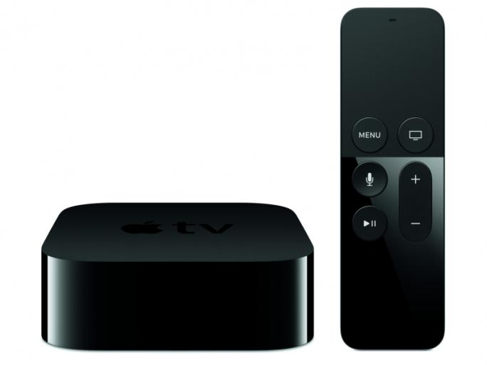 """Zur vierten Generation von Apple TV gehört auch die Fernbedienung """"Siri Remote"""" (Bild: Apple)."""
