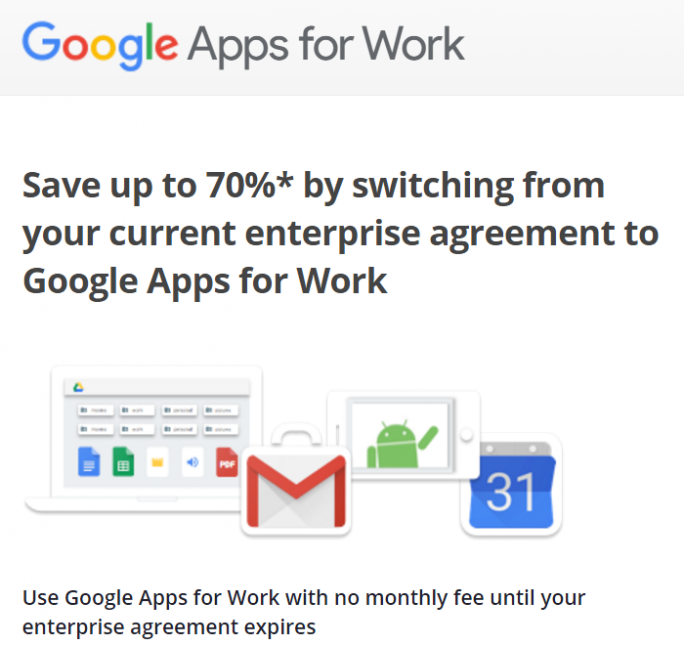 google-apps-for-work-offer (Screenshot: ZDNet.de)