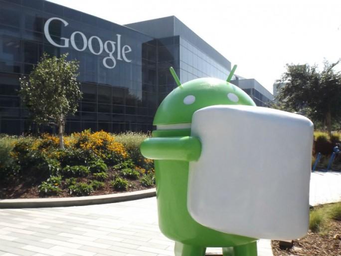 Android-Figur mit Marshmallow auf dem Google-Campus (Bild: Google)
