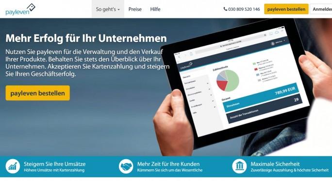 Mit der App von Payleven und einem Kartenlesegerät können kleine Unternehmen Kreditkartenzahlungen über Smartphone oder Tablet abwickeln. (Screenshot: ITespresso)