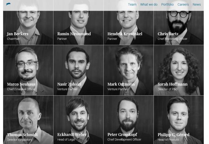 Finleap hat seinen Sitz in Berlin und San Francisco. Im Führungsteam sitzen auch viele deutsche Manager. (Screenshot: Mehmet Toprak)