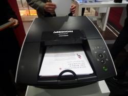 Der zur CeBIT2011 gezeigte Medion E89400 mit Memjet-Technologie, der dann allerdings nie auf den Markt gekommen ist (Bild: ZDNet.de).