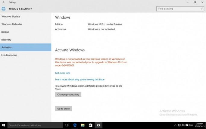 Der Umstieg auf ein legales Windows 10  soll zunächst nur Nutzern in den USA so einfach wie möglich gemacht werden (Screenshot: Microsoft).
