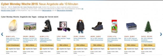 Amazon-Angebote in der Cyber-Monday-Woche: Wenige echte Schnäppchen, viel Augenwischerei (Screenshot: ITespresso)