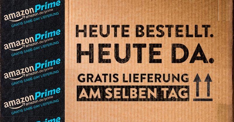 amazon liefert in deutschen ballungszentren nun noch am tag der bestellung. Black Bedroom Furniture Sets. Home Design Ideas